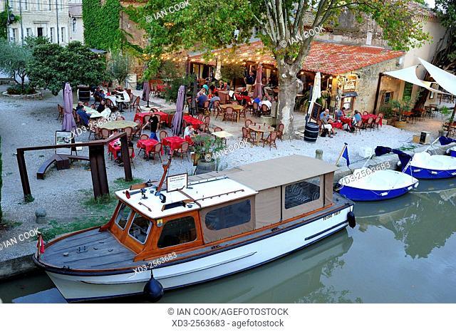 L'O a la Bouche Restaurant, le Somail, Aude Department, Languedoc-Roussillon, France