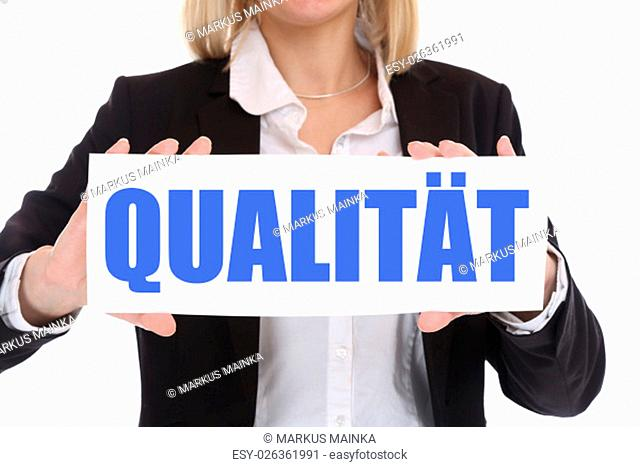 succeed with quality success qm quality management business concept