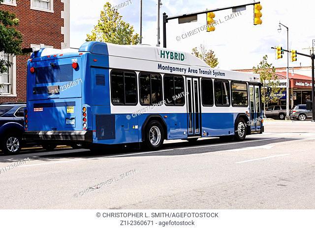 Montgomery Area Transit System hybrid city bus