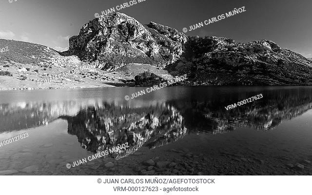 Lake Enol, Picos de Europa National Park, Asturias, Spain, Europe