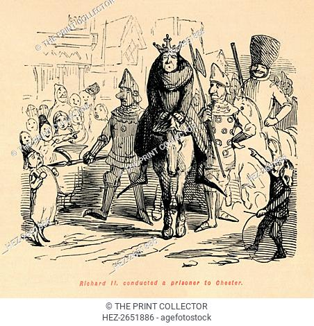 'Richard II. conducted a prisoner to Chester', c1860, (c1860). On 29th September 1399 Richard II (1367-1400) abdicated in favor of Henry Bolingbroke (1367-1413)...