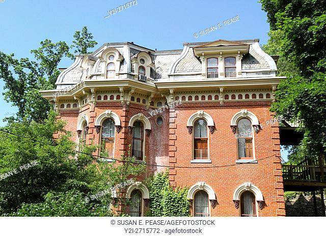 Harry Packer Mansion, now a bed and breakfast, in Jim Thorpe, Pennsylvania, United States, North America