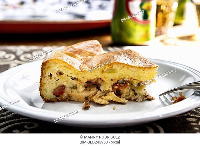Slice of torta on plate