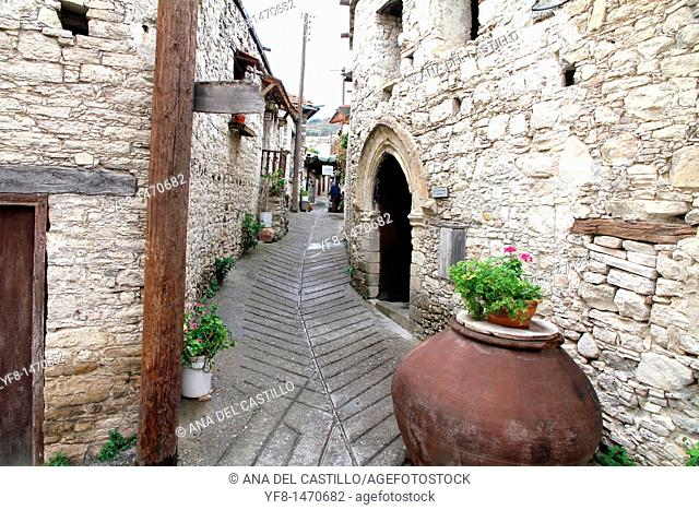 Omodhos village Cyprus island