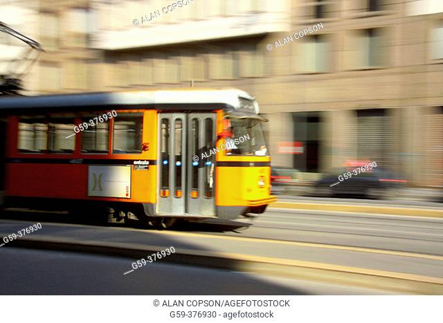 Italy. Lombardy. Milan. Tram