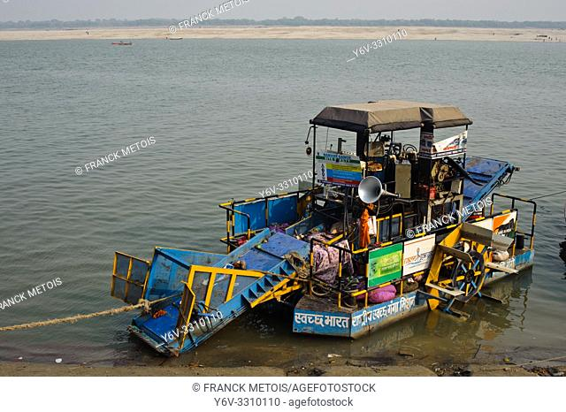 Machine used for cleaning the Ganges river ( Varanasi, India)