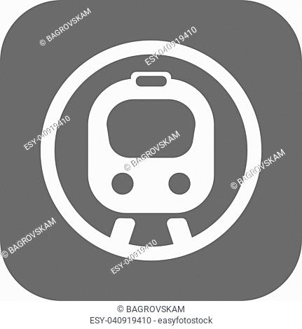 Flat speed train. Vector illustration eps 10