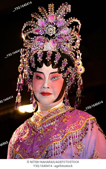 Portrait of a beijing opera artist in San Francisco, California  San Francisco is home to a large communnity of chinese immigrants and has one of the biggest...