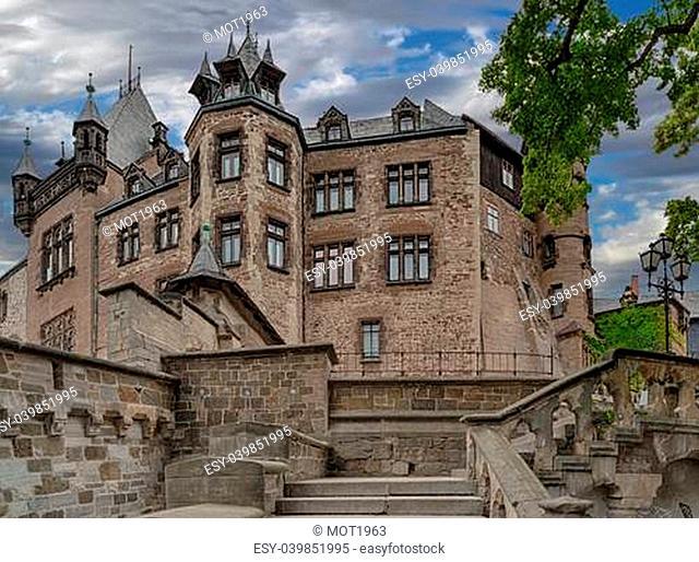 Castle Wernigerode in Germany. Harz