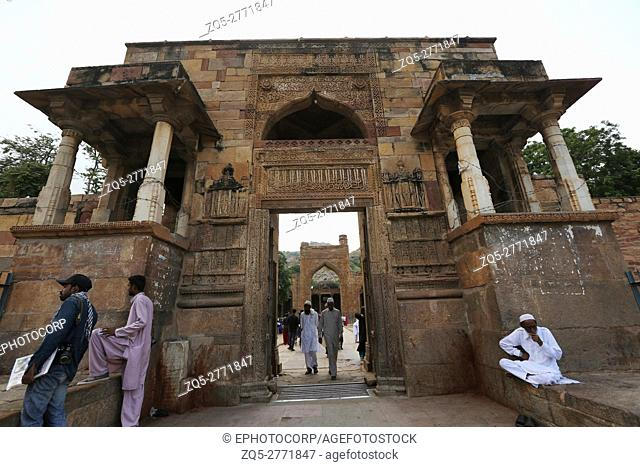 View of Adhai Din Ka Jhonpra entrance door in Ajmer, Rajasthan, India. According to legend, construction in 1153 took only two-and-a-half days