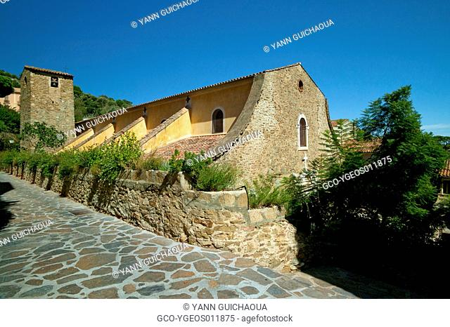 Village Of Bormes Les Mimosas,The Church,Provence, France