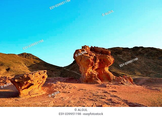 The Timna Valley - historical area is rich in copper ore, the southwestern Arabah, Israel