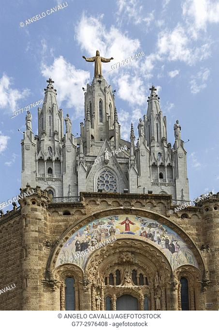Spain. Barcelona. Tibidabo. Temple Expiatori del Sagrat Cor Church