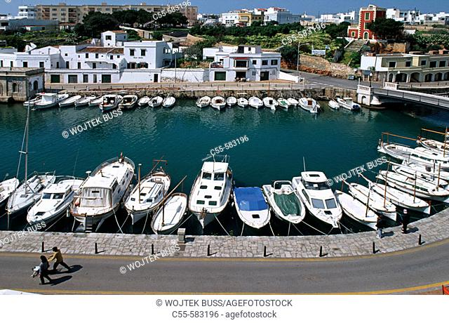Port of Ciutadella. Minorca, Balearic Islands, Spain