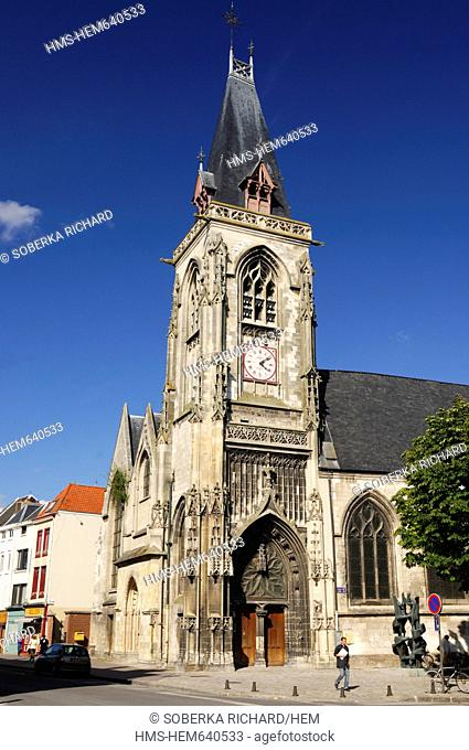 France, Somme, Amiens, Church of St. Leu
