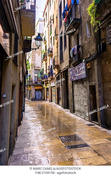 Europe, Spain, Barcelona, Stret Born quarter, district