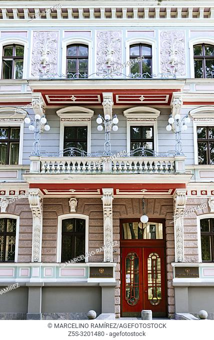 Art nouveau architecture in Riga - Embassy of the Russian Federation in the Republic of Latvia, Antonijas iela, Riga, Latvia, Baltic states, Europe
