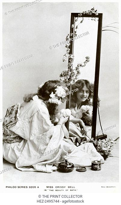 Crissy Bell, British actress, c1900s(?). Crissy Bell in The Beauty of Bath, a musical comedy by Seymour Hicks and Cosmo Hamilton