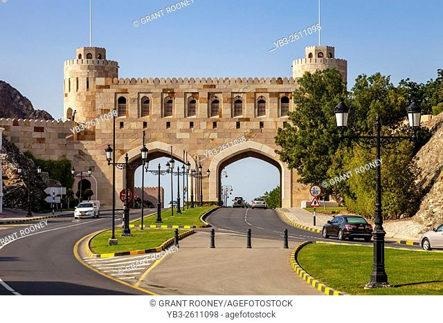 The Entrance Gate To The City Of Muscat, Sultanate Of Oman