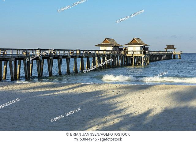 Early morning at the Naples Pier along Florida's Gulf Coast, Naples, Florida, USA