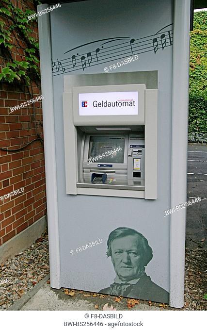 cash terminal next Richard Wagner Festpielhaus, Germany, Bavaria, Bayreuth