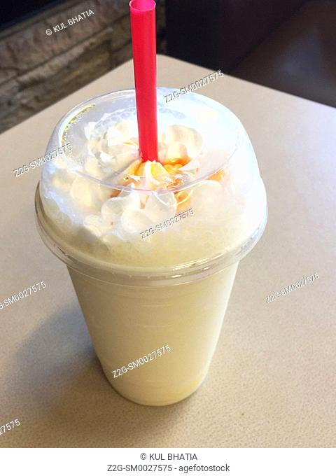 A rich, creamy drink, all single use plastics and over 500 calories