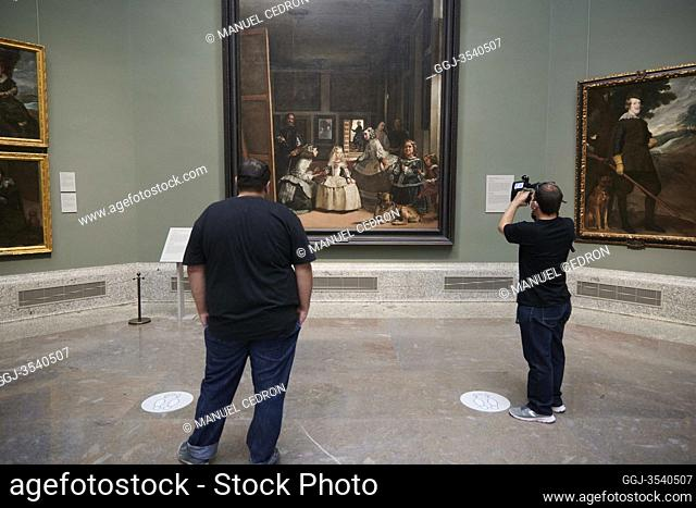 People visits The Prado Museum in its reopening..The Prado Museum in Madrid is open again after lockdown measures are eased during the novel coronavirus...