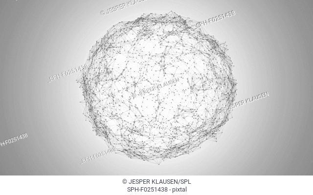 Global network, illustration
