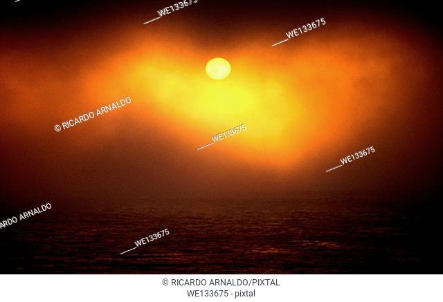 Sunset at Big Sur, California