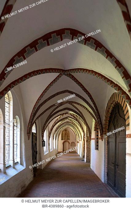 Cloister, Ratzeburg Cathedral, Ratzeburg, Schleswig-Holstein, Germany