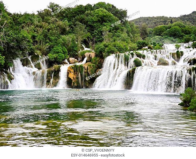 waterfall in Kornati region, Dalmatia