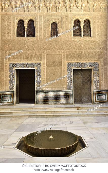 Spain, Andalusia, Granada, World Heritage Site, The Alhambra, Nasrid palaces, Comares palace