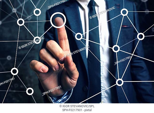 Business connections, conceptual image