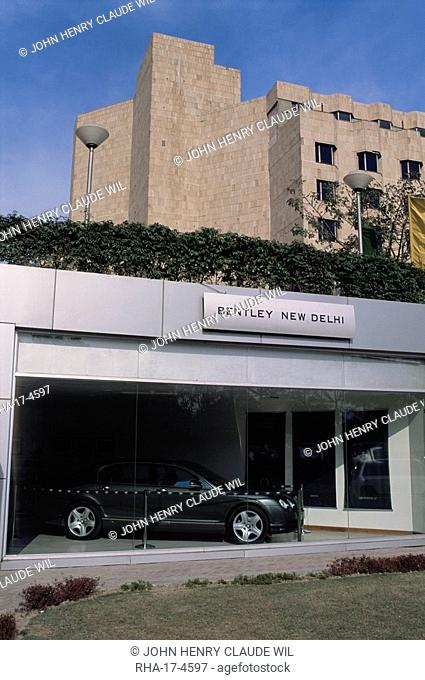 New Bentley showroom, Ashoka Hotel, New Delhi, Delhi, India, Asia