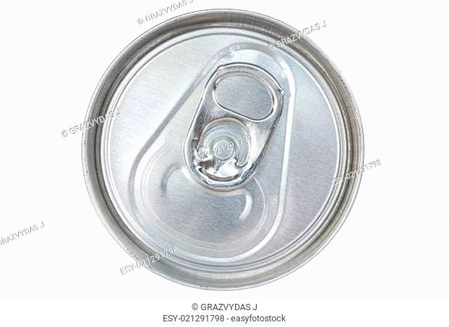 Silver can top