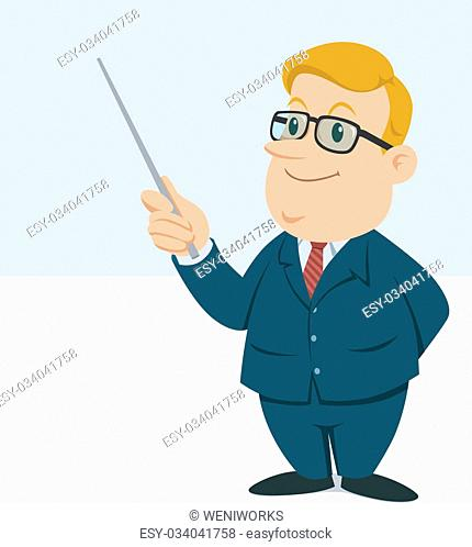 a male teacher holding a wand