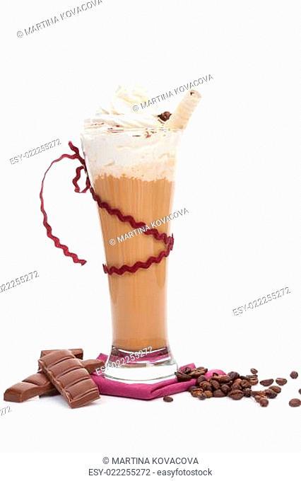 Ice coffee background