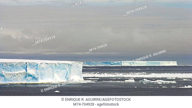 Tabular icebergs, Weddell Sea, Antarctica
