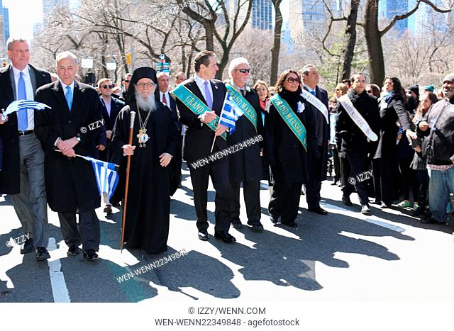Greek Independence parade in NYC celebrates 194th Anniversary of Greek Independence Featuring: Mayor Bill de Blasio, US senator Charles Schumer