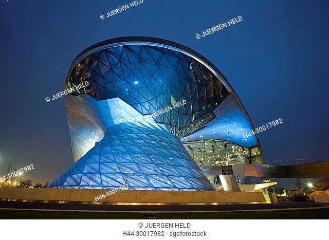 Germany, Bavaria, Munich, Bavaria Munich BMW World by Wolf D. Prix, new distribution center, TV tower