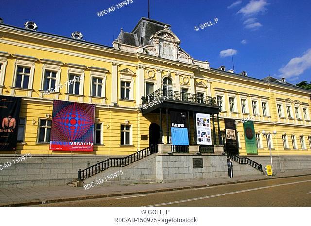 Tsars castle ethnographical museum national art gallery Sofia Bulgaria