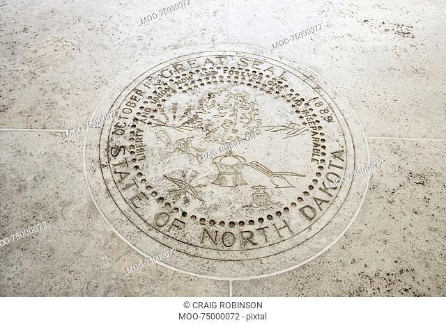Seal of North Dakota in Fort Bonifacio, Manila, Philippines