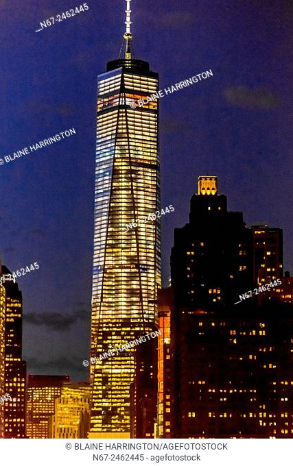 One World Trade Center (the tallest skyscraper in the Western Hemisphere and 4th tallest in the world),, New York, New York USA