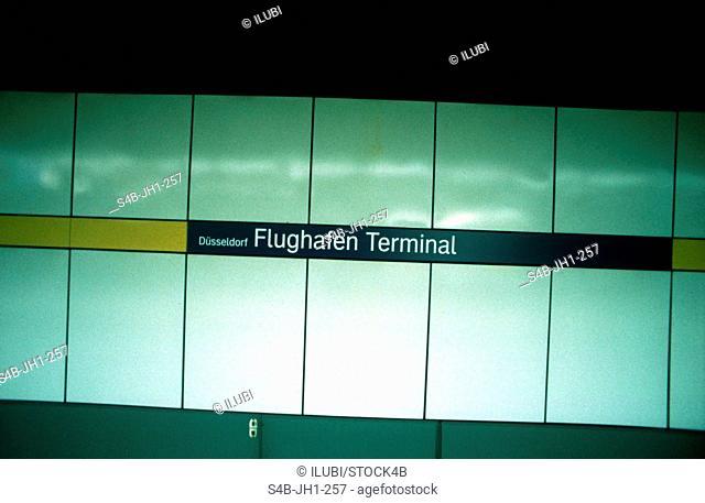Underground Train Station - Flughafen Terminal - North Rhine-Westphalia - Germany