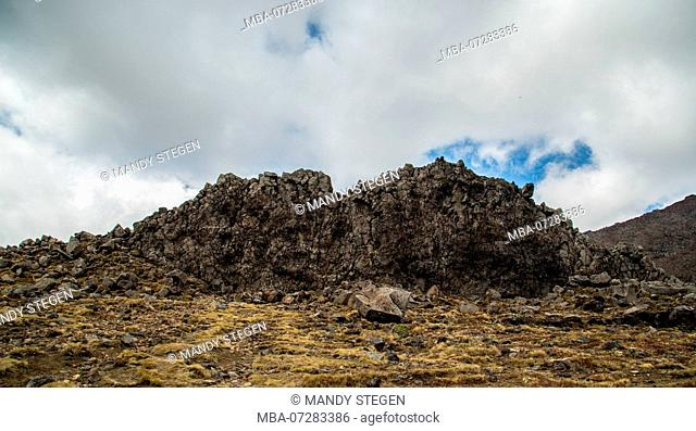New Zealand, North Island, Tongariro National Park, landscape, rocks