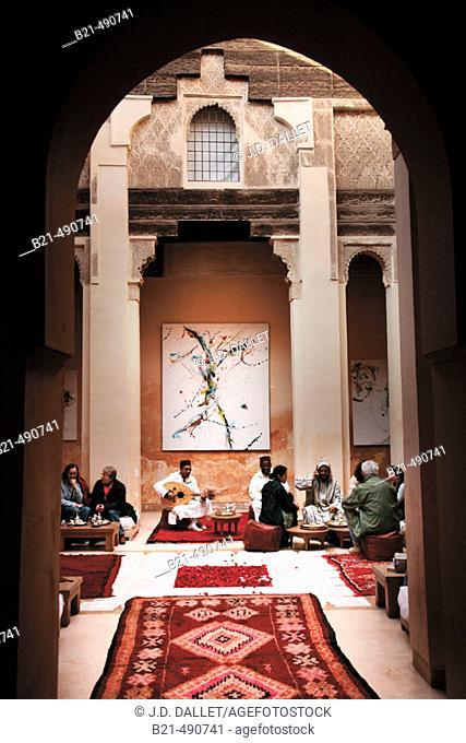 Café Littéraire Dar Cherifa, in the Medina of Marrakech. Morocco