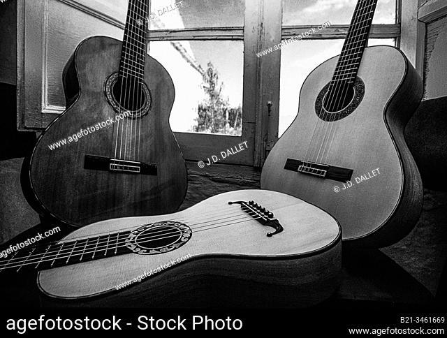 Spain, Cordoba, at the guitars maker studio of Mr. Rodriguez, at Andujar