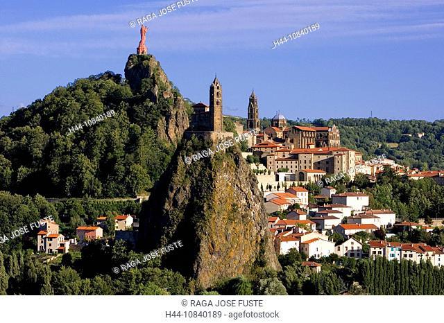 France, Europe, Le Puy-en-Velay, city, town, Region Auvergne, Departement Haute-Loire, July 2007, Europe, volcanic pea
