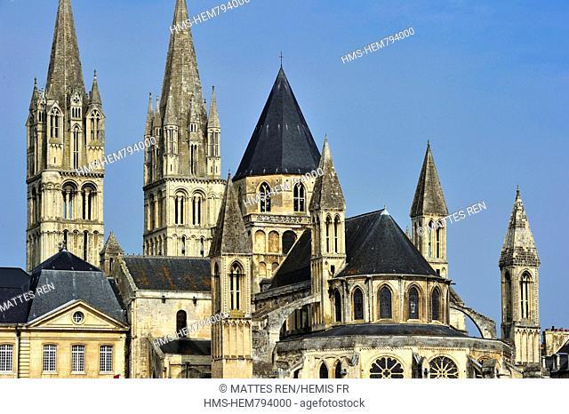 France, Calvados, Caen, Abbaye aux Hommes Men' Abbey, Romanesque architectur
