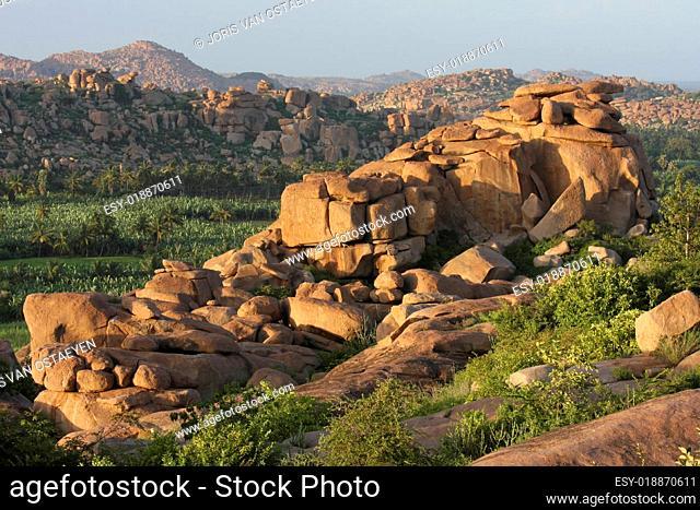 Landscape around Hampi in South India